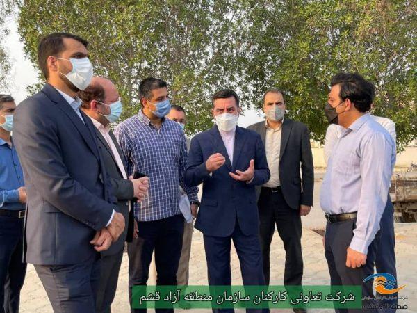 بازدید مدیرعامل سازمان منطقه آزاد قشم از طرح جهادی قشم پاک- شهروند مسوول